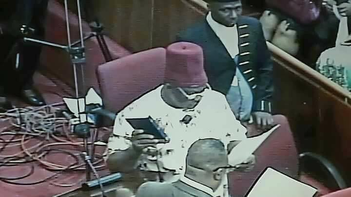 Ex-APGA chairman, Victor Umeh, sworn in as Senator